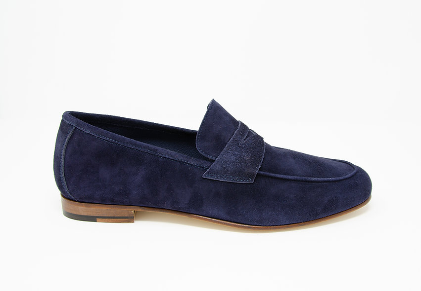 The Torino- Navy Suede