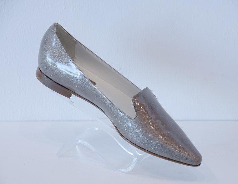 English Slipper- Patent Beige Metallic