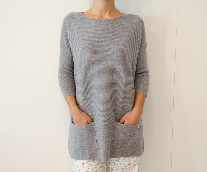 The Pocket Sweater- Grey
