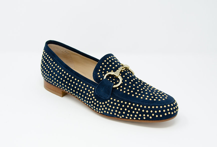 The Venus- Navy Blue Suede