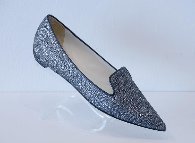 English Slipper- Glitter Silver
