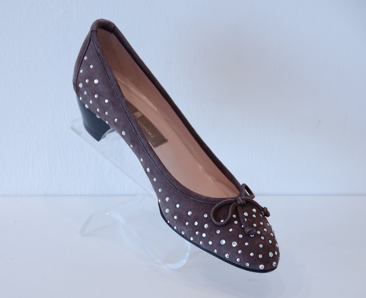 Kitten Heel- Brown with sparkles
