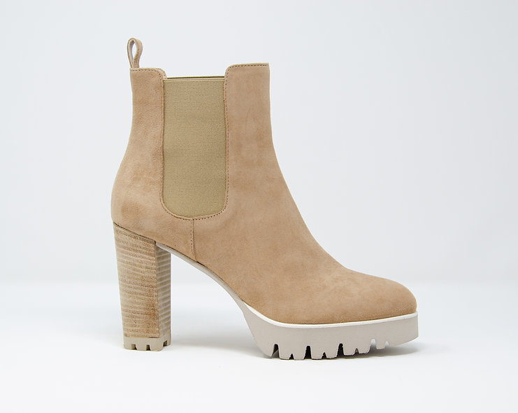 The Angie-Taupe Suede
