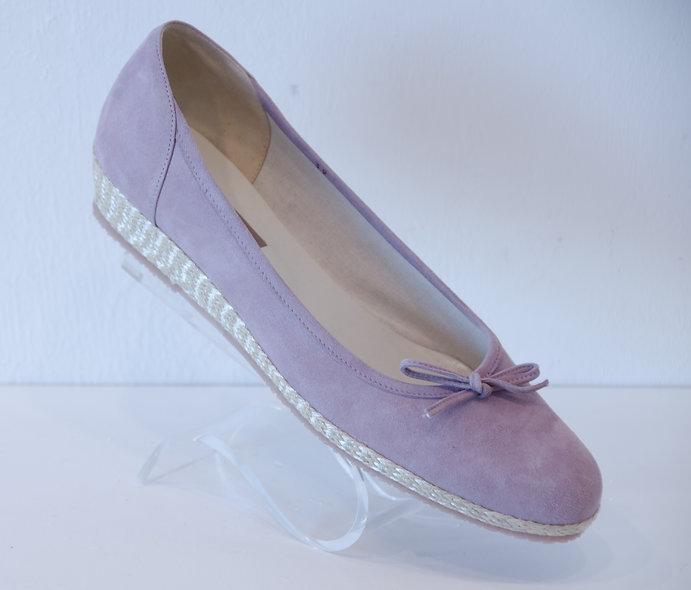Espadrille- Lilac Suede