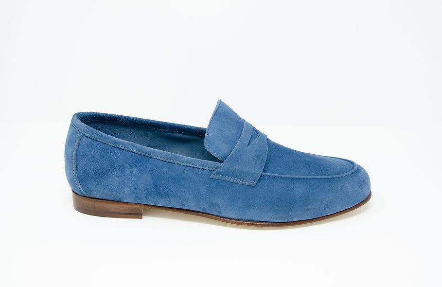 The Torino- Indigo Blue Suede