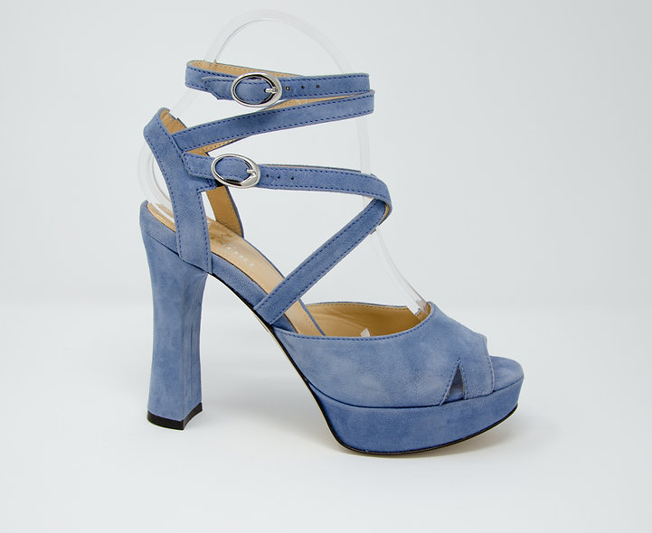 The Sandra- Blue Suede
