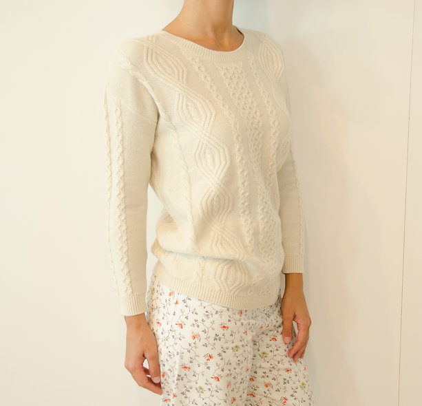 The Cableknit- Ivory