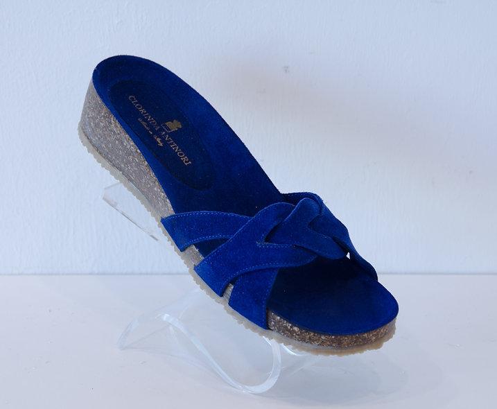 Sandal- Blue Cork