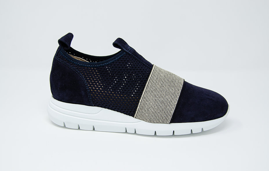 The Atletica- Navy Suede