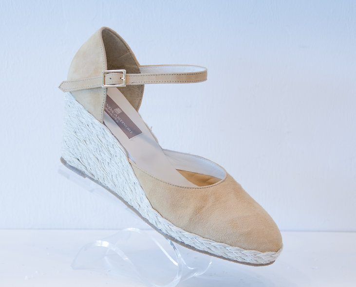 The Isabelle- Beige Suede