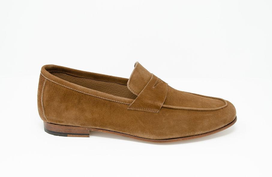 The Torino- Chestnut Brown Suede