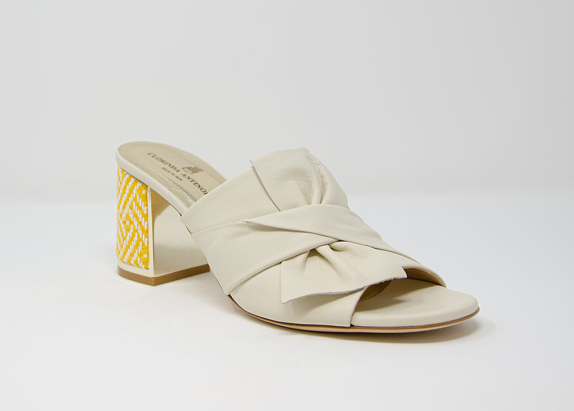 The Livia- Off White Leather