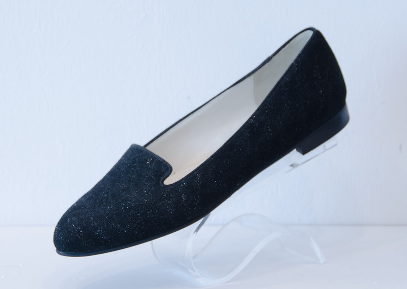 The Paige- Black Suede Glitter