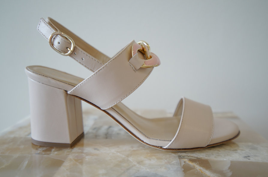 The Marilyn- Beige Leather