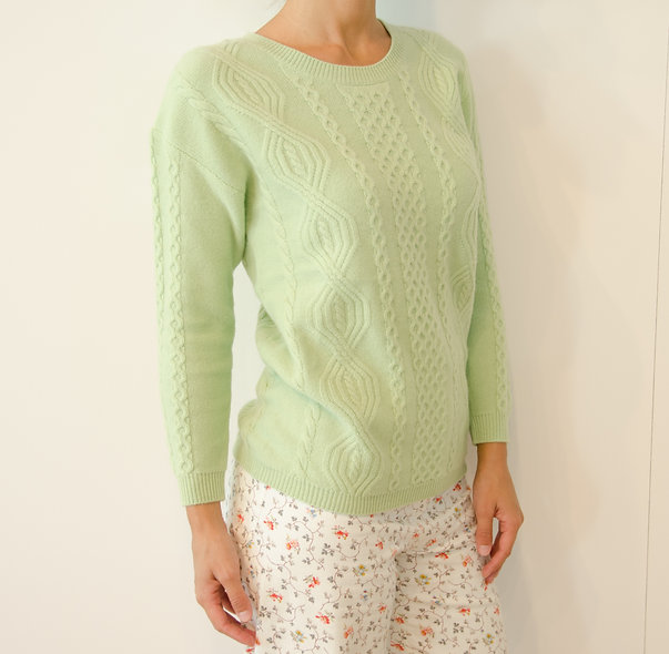 The Cableknit- Lime Green
