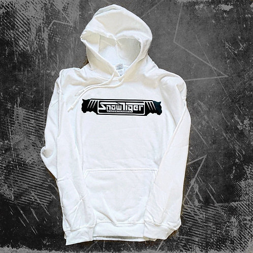 Hoodie Black on White