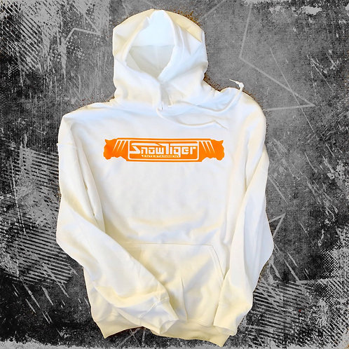 Hoodie Orange on White