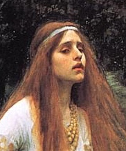 Detail of The Lady of Shalott