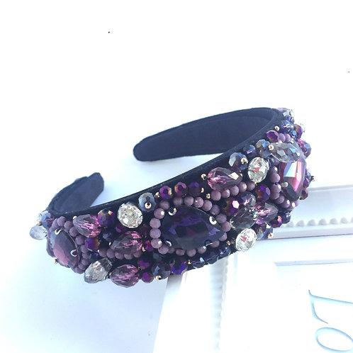 Purple Jewelled headband