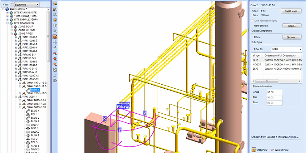 PDMS Essential - Overview, Equipment and Piping ( 3 days _