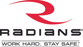 Radians Logo and Work Hard Stay Safe (00