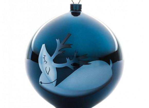 Blue Christmas tree ornament Украшение для новогодней елки из выдувного стекла.
