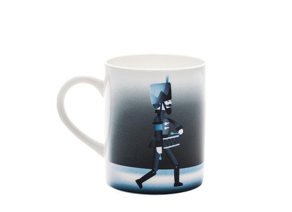 Blue Christmas Mug Soldier Кружка в стиле костяного фарфор