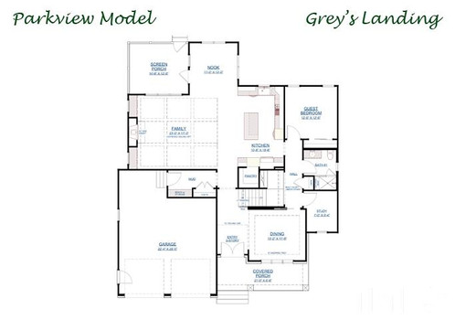 The Parkview - First Floor Layout