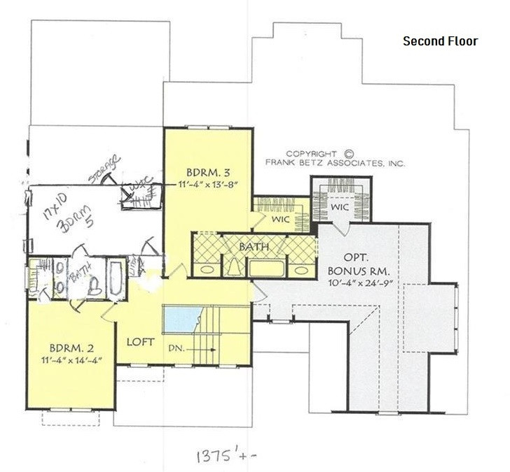Empire Contractors - Proposed Home - Second Floor