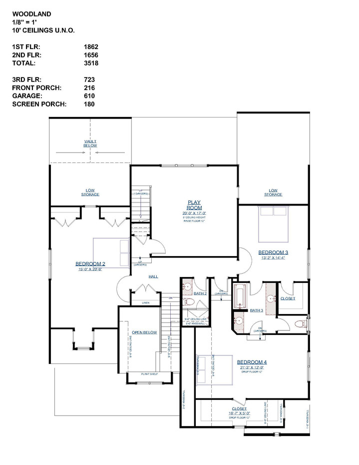 The Woodland - Second Floor Layout
