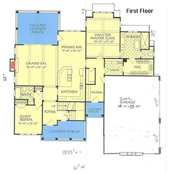 Empire Contractors - Proposed Home - First Floor