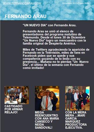 Entrevista con Fernando Arau después de su participación en Muy Buenos Días