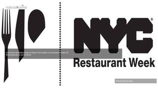 Aniversario número 25 de la Semana de Restaurantes en Nueva York