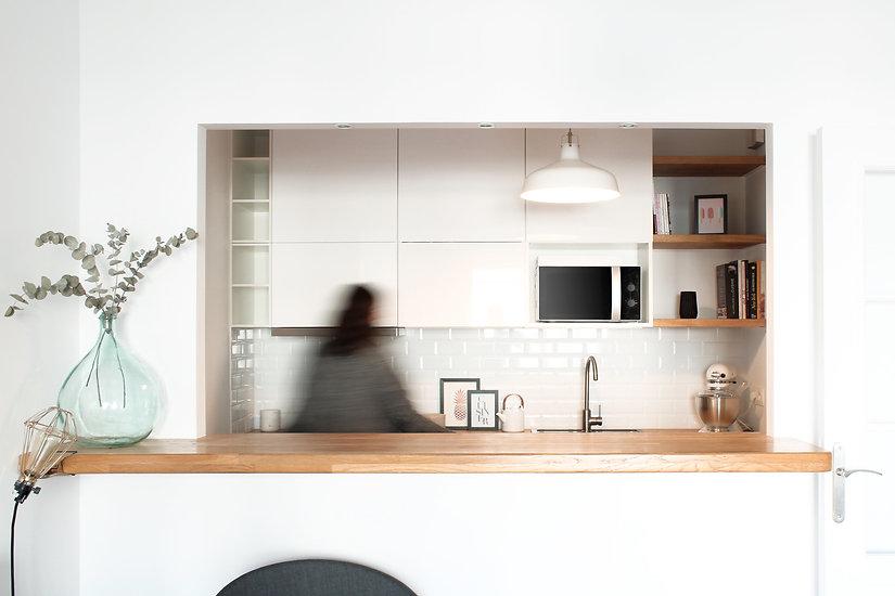 January architecte d'intérieur Bordeaux Réalisation Appatement Letellier Paris Cuisine Rénovation