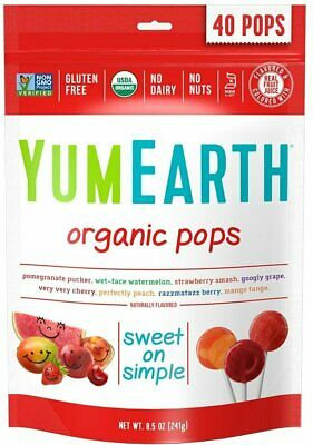 YUMEARTH Organic Pops, Large Pack - 40 lollies