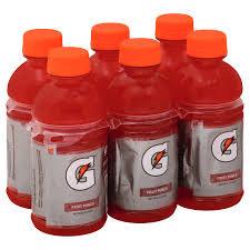 Gatorade Red (Fruit Punch) Bottles - 6 Bottles