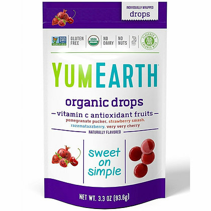 YUMEARTH Drops with Vitamin C Antioxidant Fruits