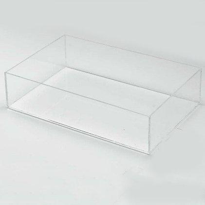 Clear Plastic Box - 20/10/5 cm- 3 pack