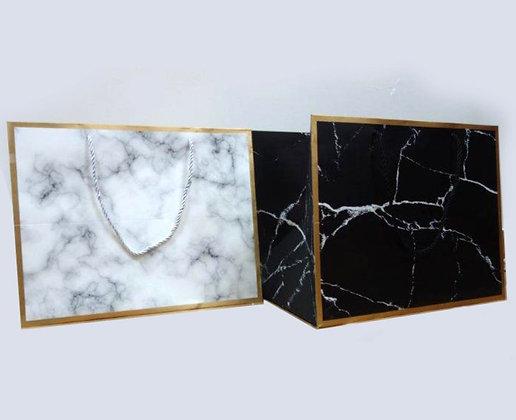 Large BLACK Marble Purim Bag 25x25x25 cm