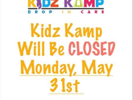 Closed:May 31st