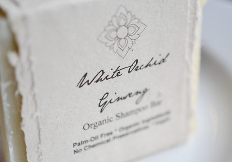 White Orchid Ginseng Shampoo Bar