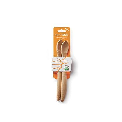 Organic Bamboo Baby's Feeding Spoons (6M+)