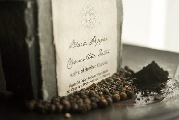 Black Pepper Charcoal Soap Bar