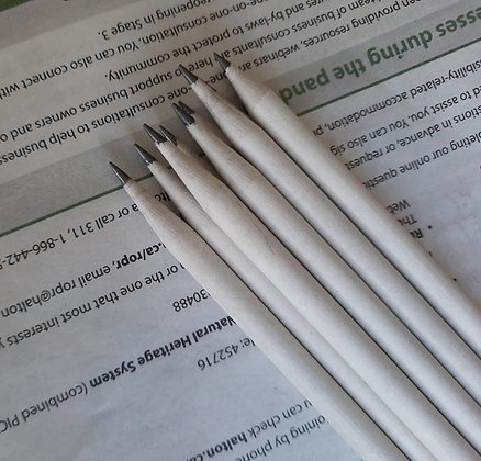 Recycled Newspaper Pencils