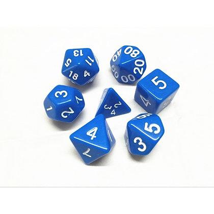 Blue Dice Set