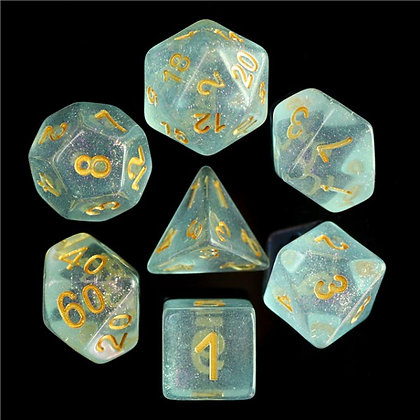 Clear Ghost Dice Set