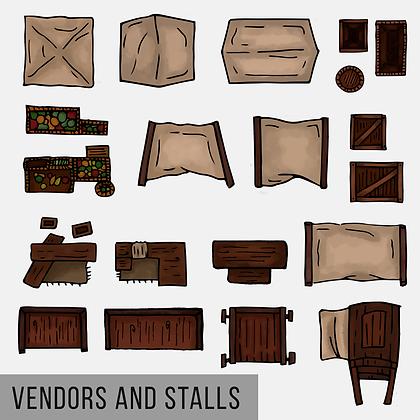 Vendors & Stalls Map Assets