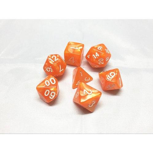 Tangerine Dice Set