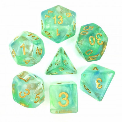 Oceanwater Dice Set