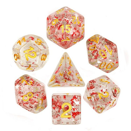 Metallic Ruby Dice Set